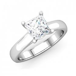 Classic Solitaire Princess Cut Diamond Engagement Ring